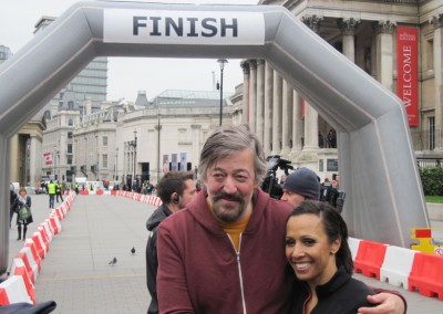 Stephen Fry and Kelly Holmes