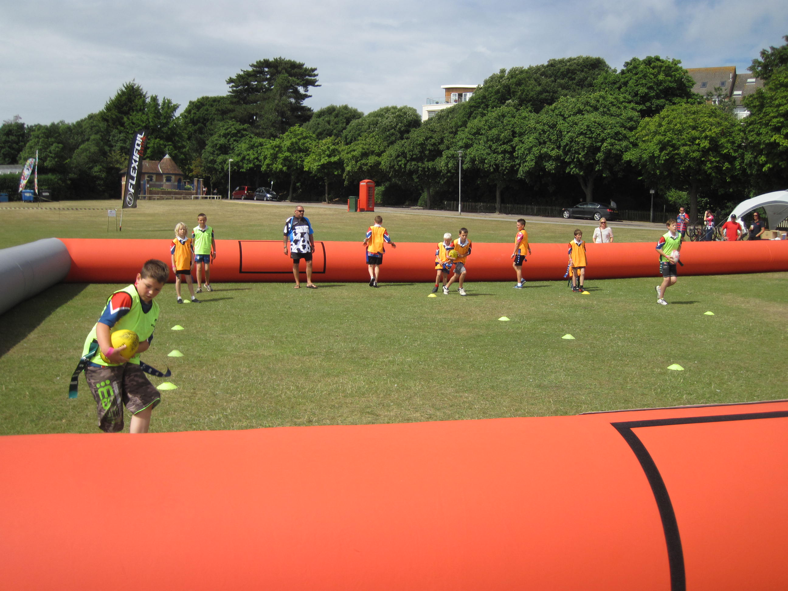 touch rugby pitch rugby inflatable hire shoot4goal