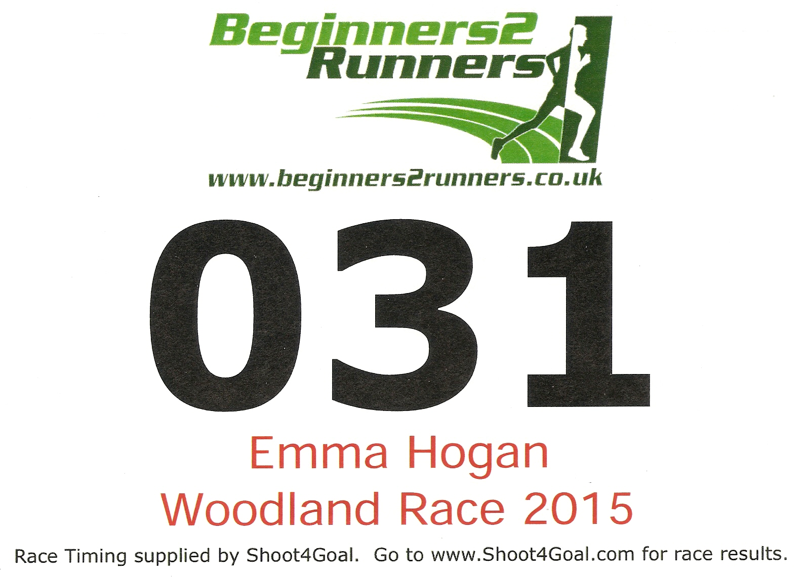 Digital Race Bib