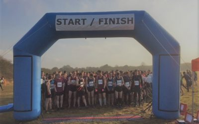 New Blue Race Arch Used for Army Cross Country Race