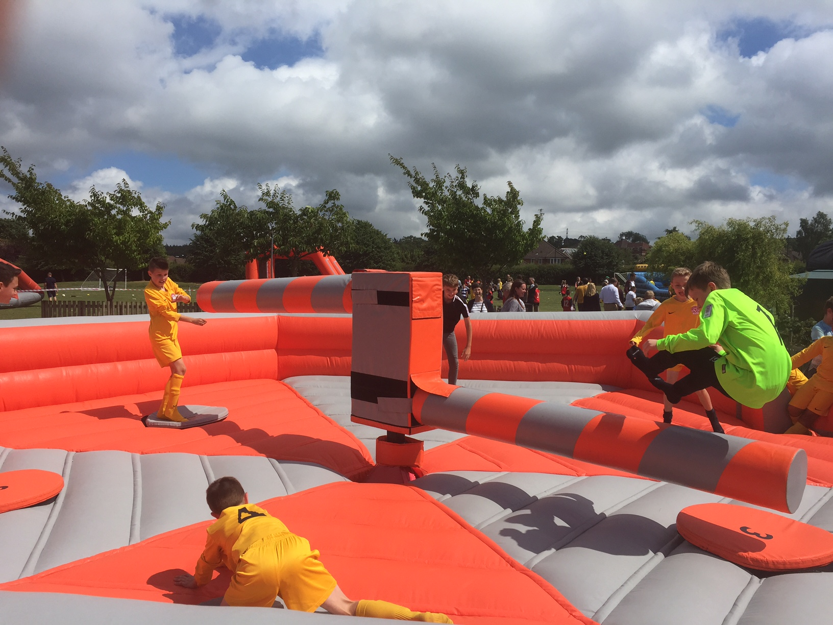 Total Wipeout Sweeper Sports Inflatable Hire Fun
