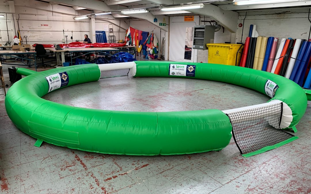 Tackle O'Meters, Pitch Surrounds, Shoot Out's our latest Inflatable Productions